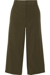 Marni Cotton Twill Shorts Army Green