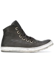 A Diciannoveventitre Lace Up Hi Tops Black