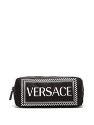 Versace Logo Print Nylon Belt Bag Black