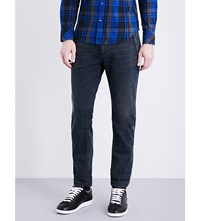 Diesel Faded Slim Fit Tapered Jeans Black