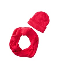 San Diego Hat Company Knh3338 Knit Scarf Beanie Set Electric Coral Scarves Pink