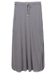 Joules Cianne Jersey Maxi Skirt Navy Stripe