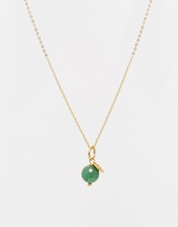 Mirabelle Necklace With Mini Facetted Aventurine Bead Goldaventurine