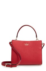 Kate Spade New York Small Cameron Street Sara Leather Satchel Red Heirloom Red