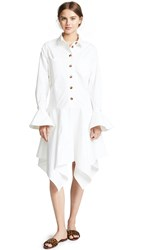 Edit Fluted Cuff Oversized Shirtdress White
