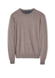 Mango Tenc Cotton Cashmere Blend Sweater Light Brown