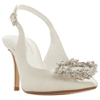 47c2e9c3ae98 Dune Bridal Collection Ceremony Wreath Brooch Slingback Court Shoes Ivory