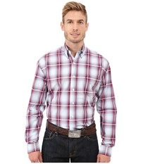 Stetson Baseball Ombre Button Front One Pocket Long Sleeve Shirt Red Men's Long Sleeve Button Up