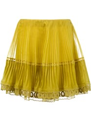 Chloe Pleated Mini Skirt Yellow And Orange