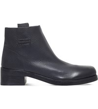 Alberto Fasciani Pull On Leather Ankle Boots Black