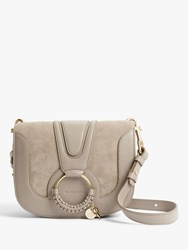 See By Chloe Small Hana Suede Leather Satchel Bag Motty Grey