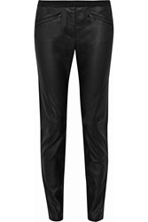 Belstaff Barlow Leather Skinny Pants Black