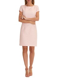 Betty Barclay Textured Shift Dress Rose Cream