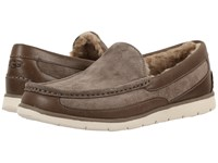 Ugg Fascot Dark Fawn Men's Slip On Shoes Brown
