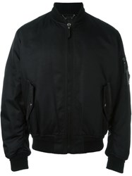 Versace Arm Detail Flight Jacket Black