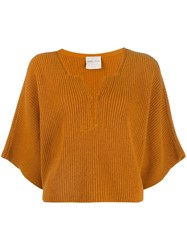 Forte Forte Ribbed Cropped Jumper Orange