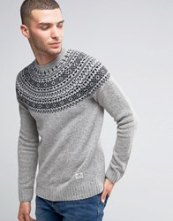 Penfield Freeman Fairisle Jumper Grey