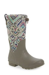 Sakroots Women's 'Mezzo' Waterproof Rain Boot Slate Brave Beauty