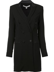 Veronica Beard Fitted Double Breasted Coat Black