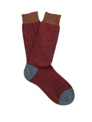 Pantherella Scott Nichol Burghley Socks Red Multi
