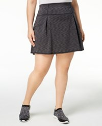 Ideology Plus Size Space Dyed Pleated Skort Created For Macy's Noir Space Dye