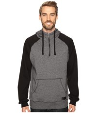 Cinch Color Blocked Fleece Hoodie Heathered Charcoal Men's Sweatshirt Black