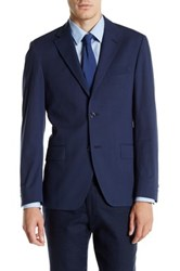 Spurr By Simon Spurr Navy Pinstripe Two Button Notch Lapel Slim Fit Sport Coat Blue