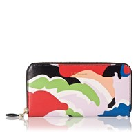 Lk Bennett Kenza Saffiano Leather Wallet Multi Coloured