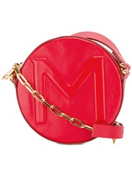 Thierry Mugler Round Crossbody Bag Red
