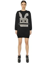 Mcq By Alexander Mcqueen Electro Bunny Cotton Sweatshirt Dress