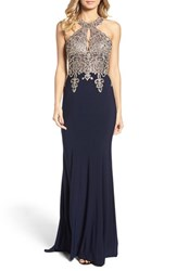 Xscape Evenings Women's Embellished Embroidered Gown