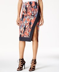 Rachel Roy Printed Pencil Skirt Only At Macy's Deep Marine Combo