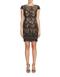 Cynthia Steffe Embroidered Brocade Dress Black