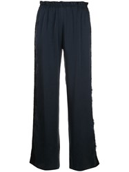 Icons Camelia Lace Stripe Trousers Blue