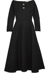 Rejina Pyo Mina Cotton Blend Poplin Dress Black