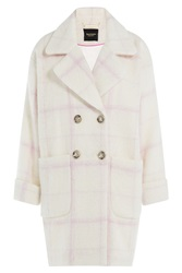 Juicy Couture Wool Coat With Mohair Beige
