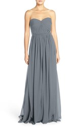 Jenny Yoo Women's Mira Convertible Strapless Pleat Chiffon Gown Mineral
