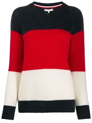 Tommy Hilfiger Knitted Striped Jumper Blue