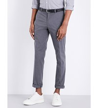 Polo Ralph Lauren Slim Fit Tapered Cotton Blend Trousers Medium Grey Htr