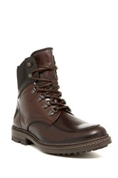 Kenneth Cole Well Kn Own Lace Up Boot Brown
