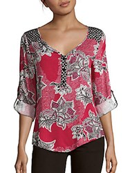Minkpink Wilderness Floral Blouse Pink Multi