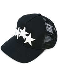 Amiri Star Patch Cap Men Cotton Leather Polyester Tencel One Size Black