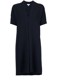 Vince V Neck Dress Blue