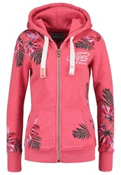 Superdry Super Beach Tracksuit Top Overdyed Fluro Pink