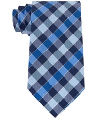 Geoffrey Beene Men's Effortless Gingham Tie Blue