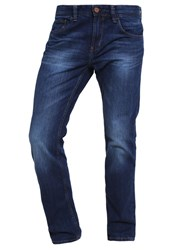 Tom Tailor Denim Aedan Straight Leg Jeans Dark Stone Wash Denim Dark Blue Denim
