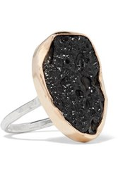 Melissa Joy Manning 14 Karat Gold Sterling Silver And Stone Ring Black