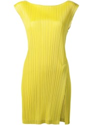 Issey Miyake Pleats Please By Pleated Tank Dress Green