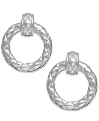 Studio Silver Giani Bernini Quilted Circle Drop Earrings In Sterling Silver