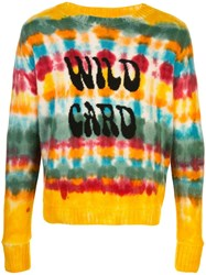 The Elder Statesman Tie Dye Striped Jumper 60